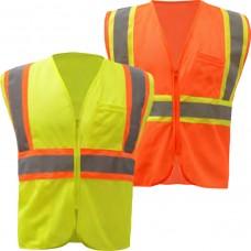 Mesh 2 Tone Zip Vest